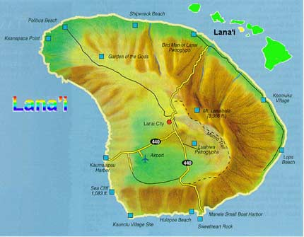 Map of Big Island of Hawaii